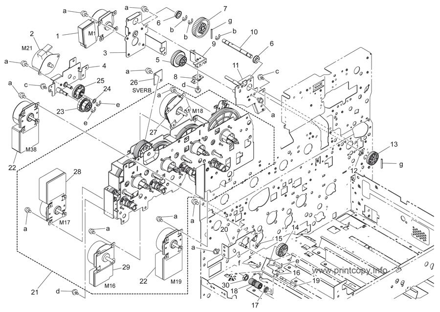 Parts Catalog > Konica-Minolta > bizhub C451 > page 57