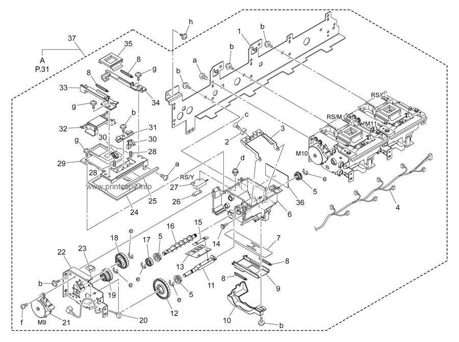 Parts Catalog > Konica-Minolta > bizhub C452 > page 30