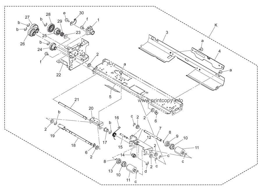 Parts Catalog > Konica-Minolta > bizhub C452 > page 58