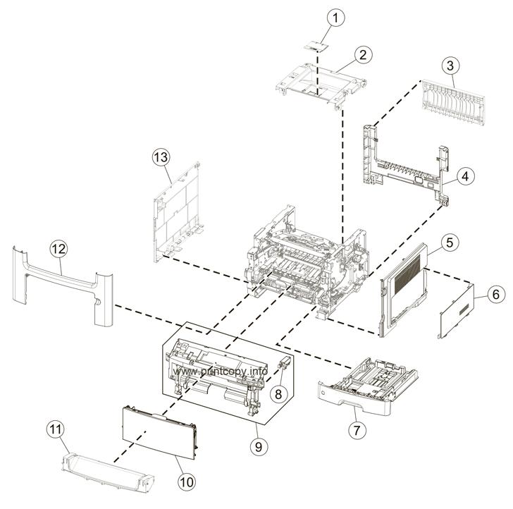 Parts Catalog > Lexmark > MX410de > page 1