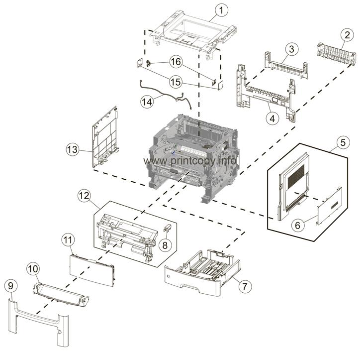 Parts Catalog > Lexmark > MX611de > page 1