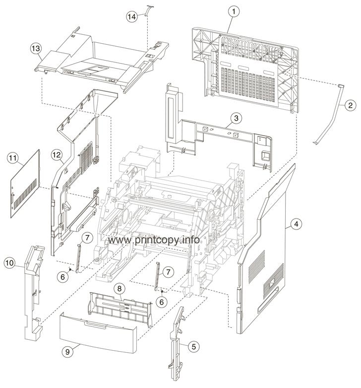 Parts Catalog > Lexmark > MX711dhe > page 1