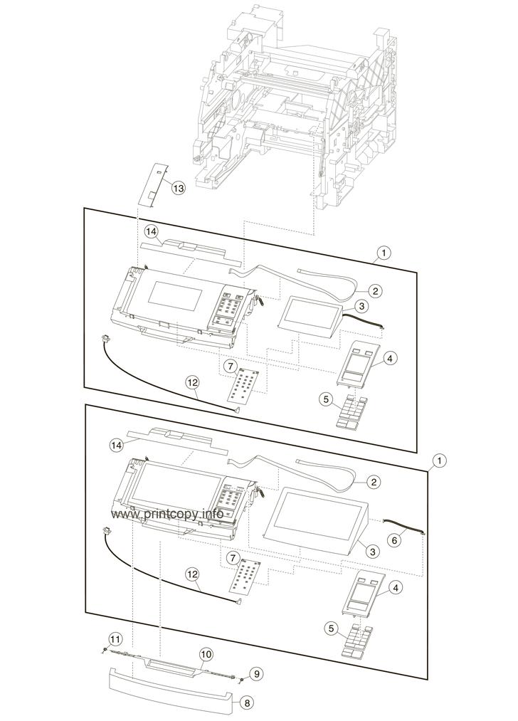 Parts Catalog > Lexmark > MX711de > page 9