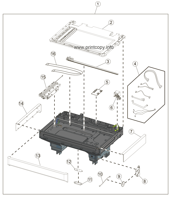 Parts Catalog > Lexmark > MX711de > page 16