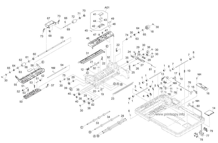 Parts Catalog > Kyocera > DP110 > page 1