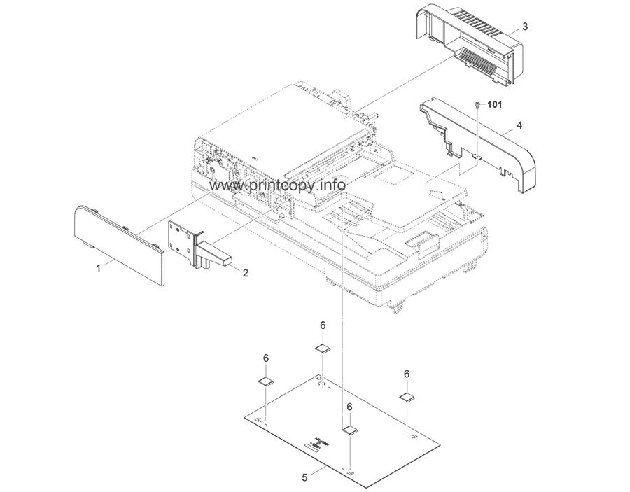 Parts Catalog > Kyocera > DP5110 > page 1