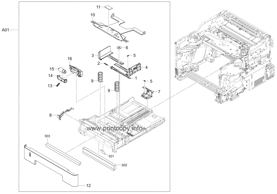 Parts Catalog > Kyocera > ECOSYS M2540dw > page 9