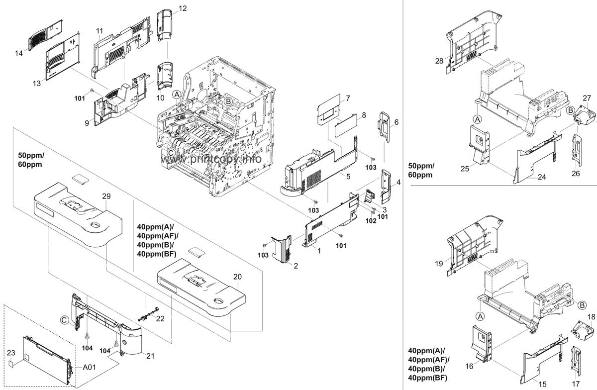 Parts Catalog > Kyocera > ECOSYS M3550idn > page 1
