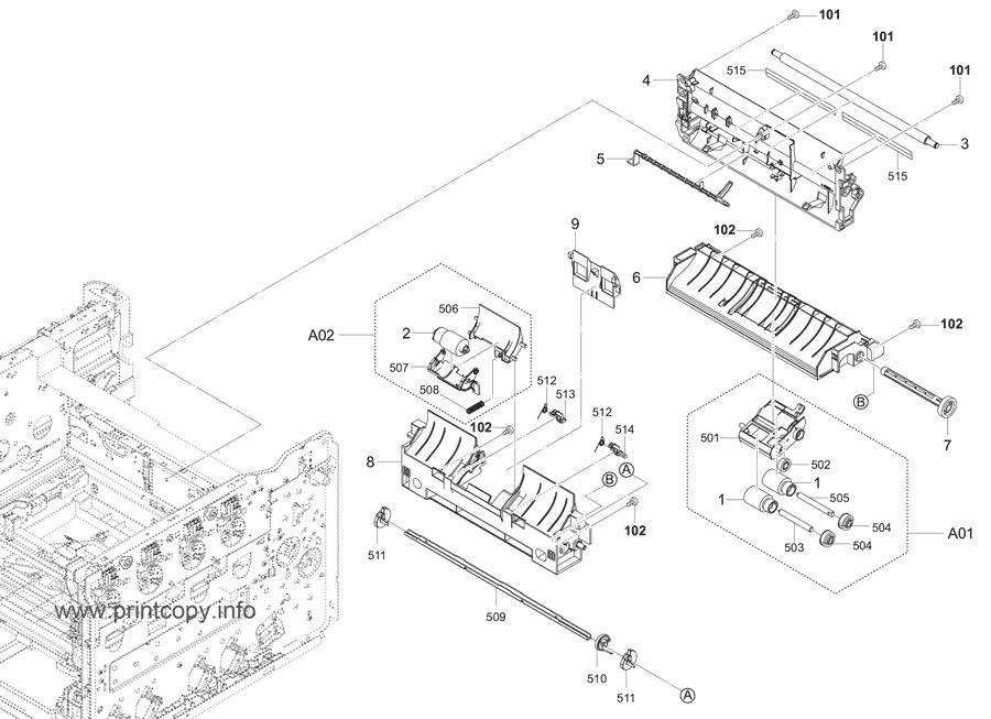 Parts Catalog > Kyocera > ECOSYS P5026cdw > page 8