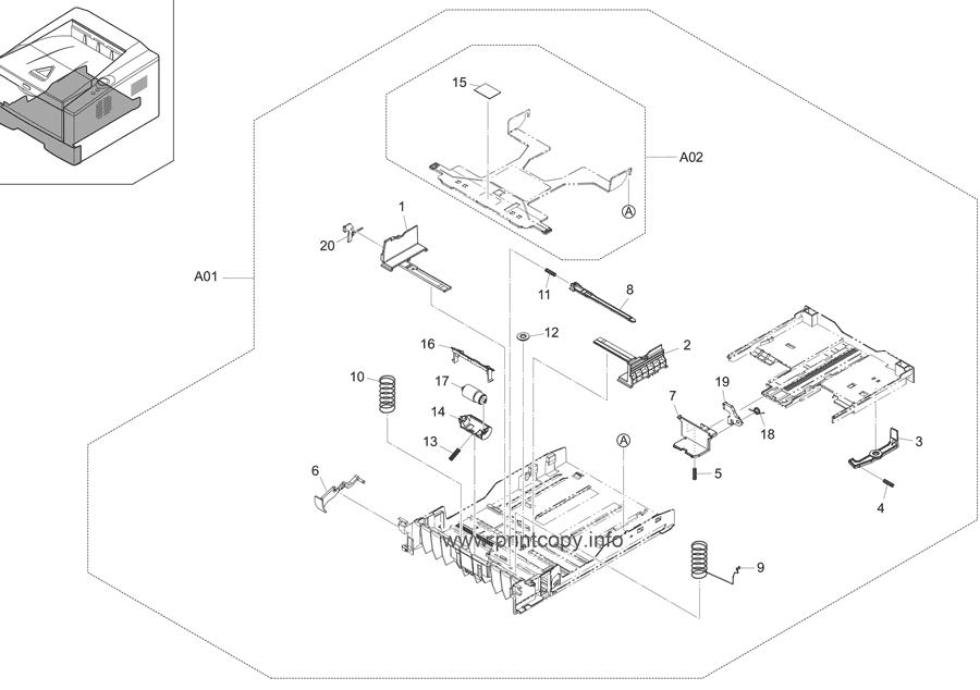 Parts Catalog > Kyocera > ECOSYS P2035d > page 3