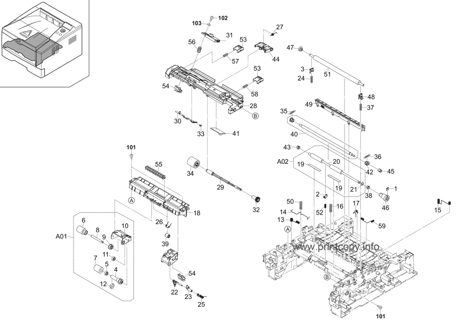 Parts Catalog > Kyocera > ECOSYS P2135dn > page 4