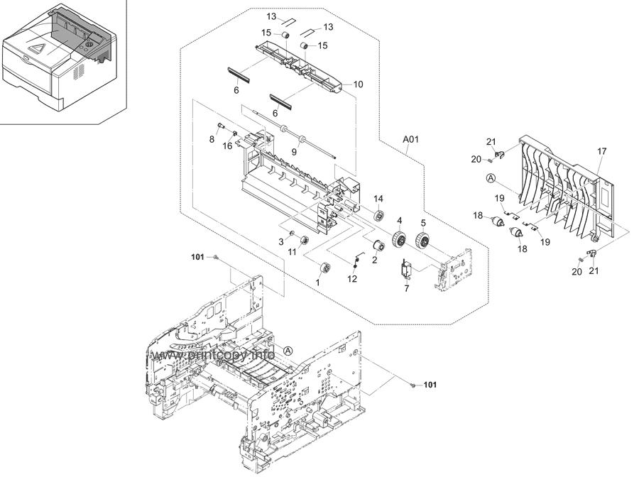 Parts Catalog > Kyocera > ECOSYS P2135dn > page 5