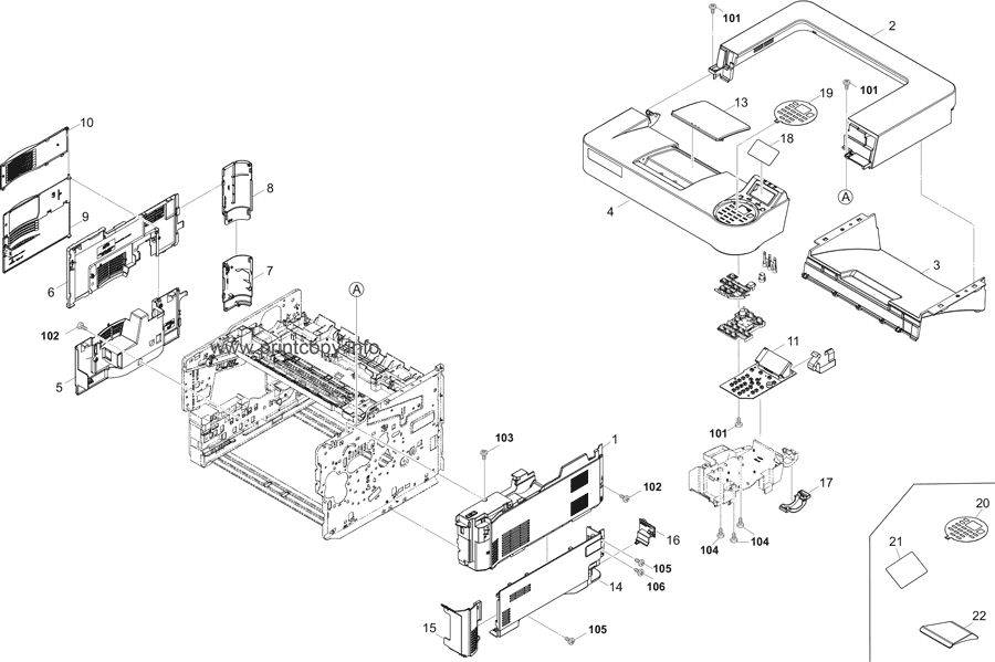 Parts Catalog > Kyocera > ECOSYS P4040dn > page 1