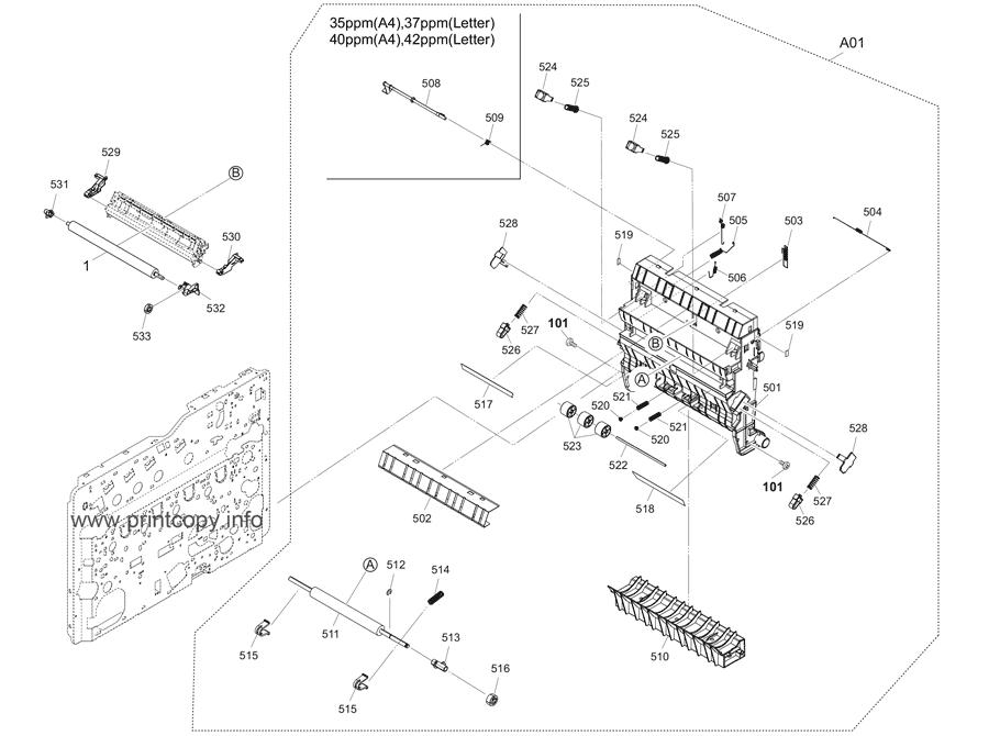 Parts Catalog > Kyocera > ECOSYS P7040cdn > page 6