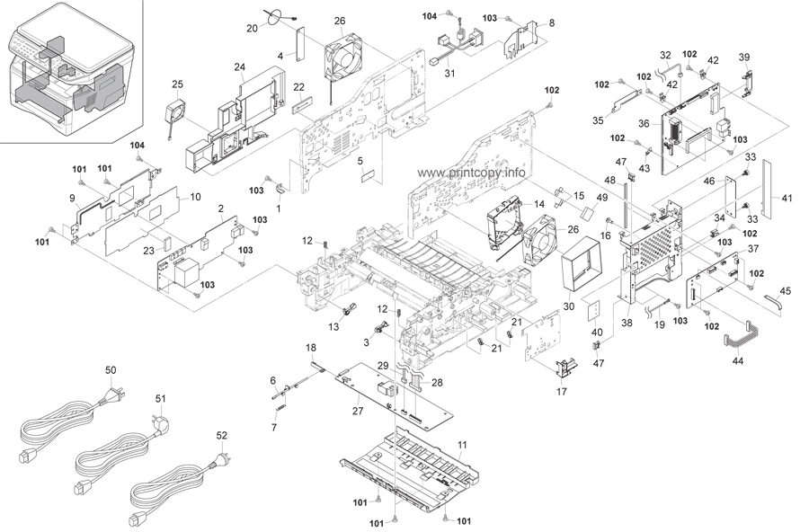 Parts Catalog > Kyocera > FS1028MFP > page 12
