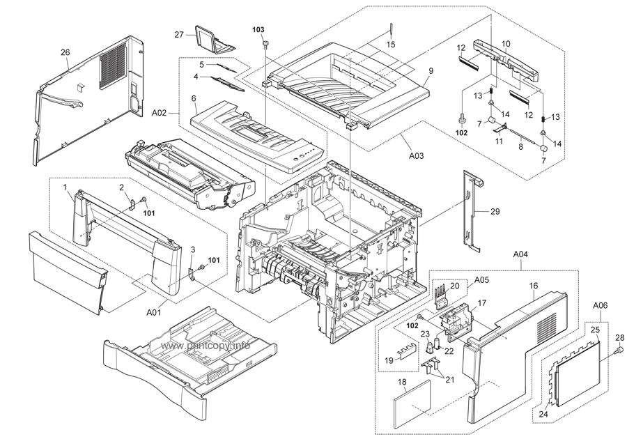 Parts Catalog > Kyocera > FS1030D > page 1