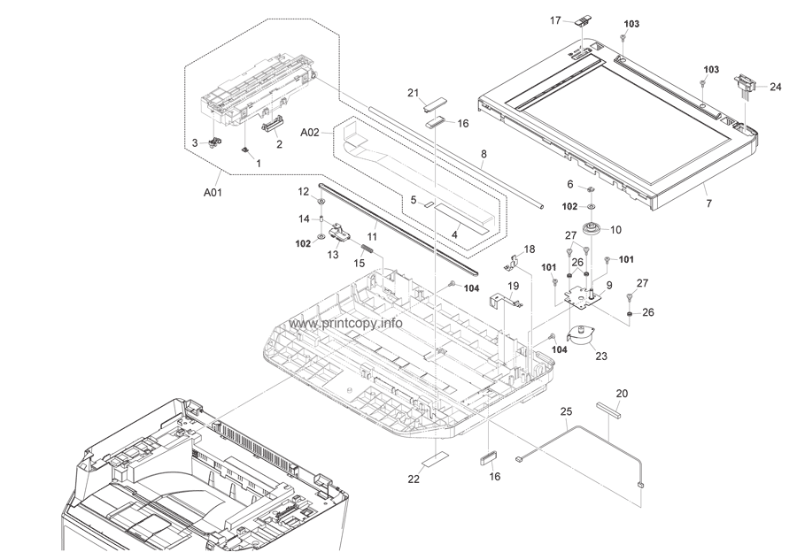 Parts Catalog > Kyocera > FS1035MFP > page 6