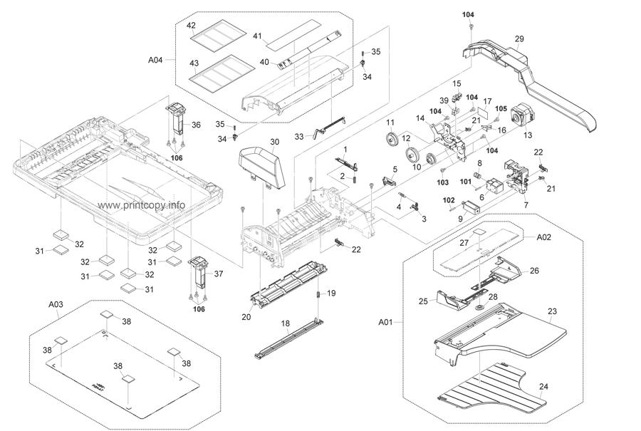 Parts Catalog > Kyocera > FS1035MFP > page 15