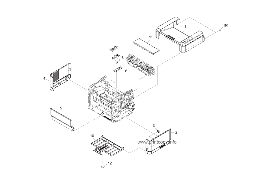 Parts Catalog > Kyocera > FS1060DN > page 1