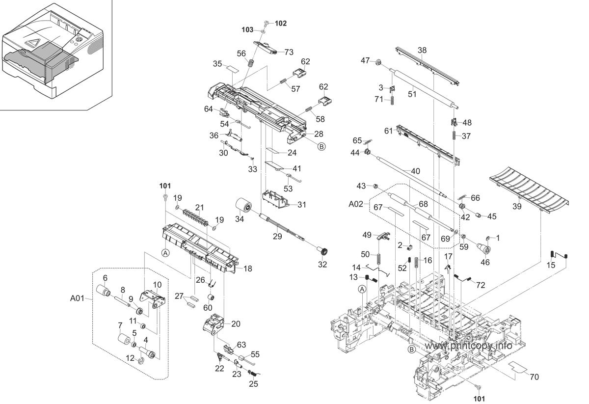 Parts Catalog > Kyocera > FS1350DN > page 4