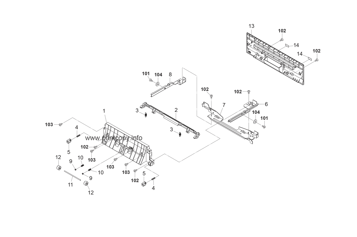 Parts Catalog > Kyocera > FS2020D > page 16