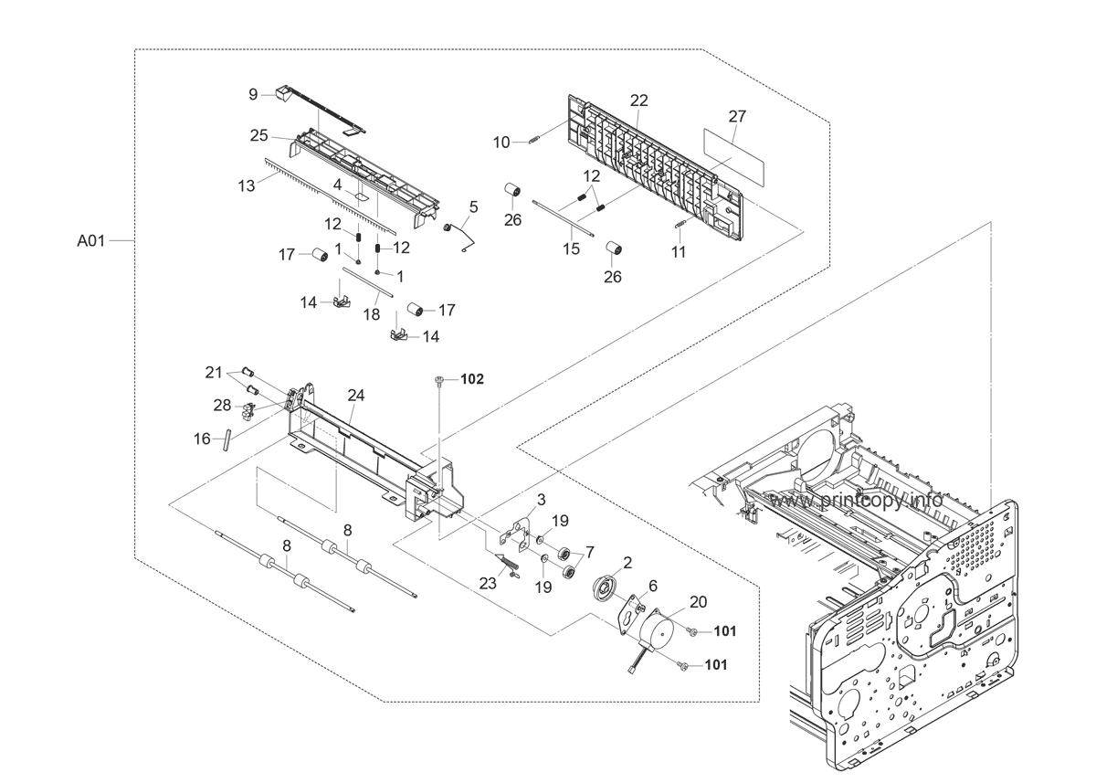 Parts Catalog > Kyocera > FS2020D > page 19