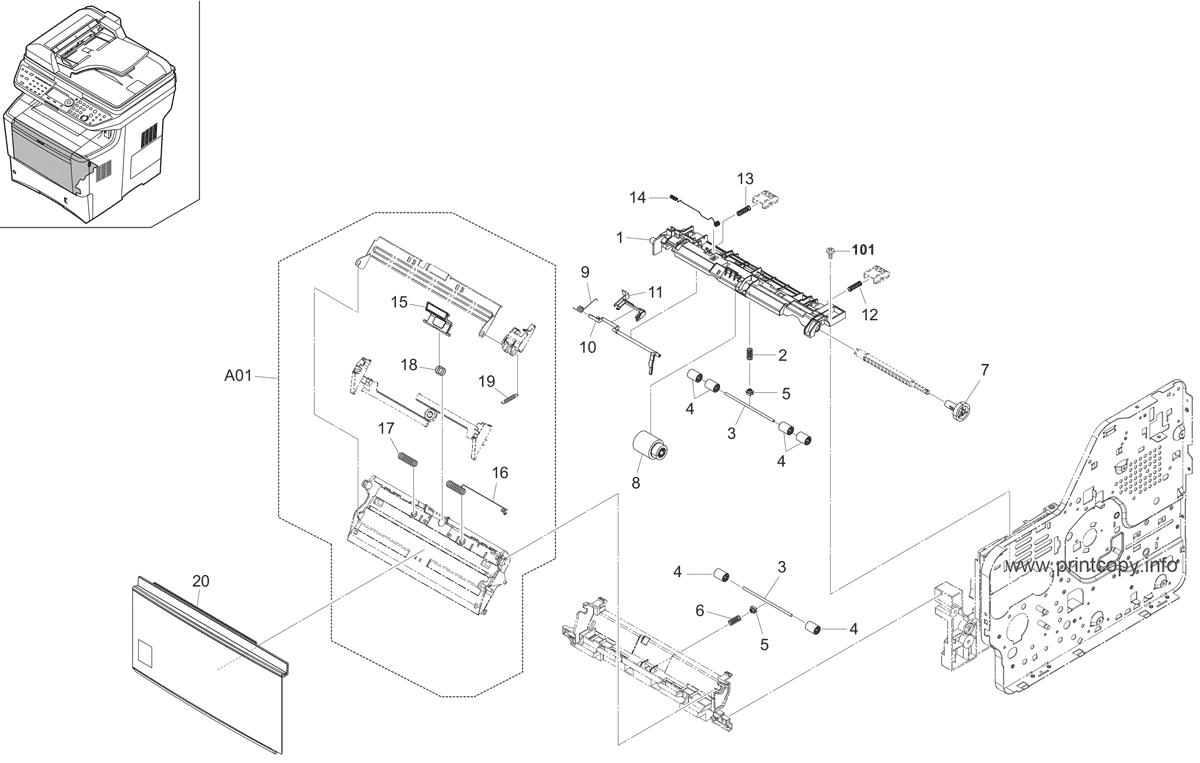 Parts Catalog > Kyocera > FS3140MFP > page 5