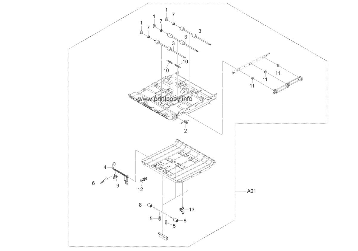 Parts Catalog > Kyocera > FS3140MFP plus > page 8