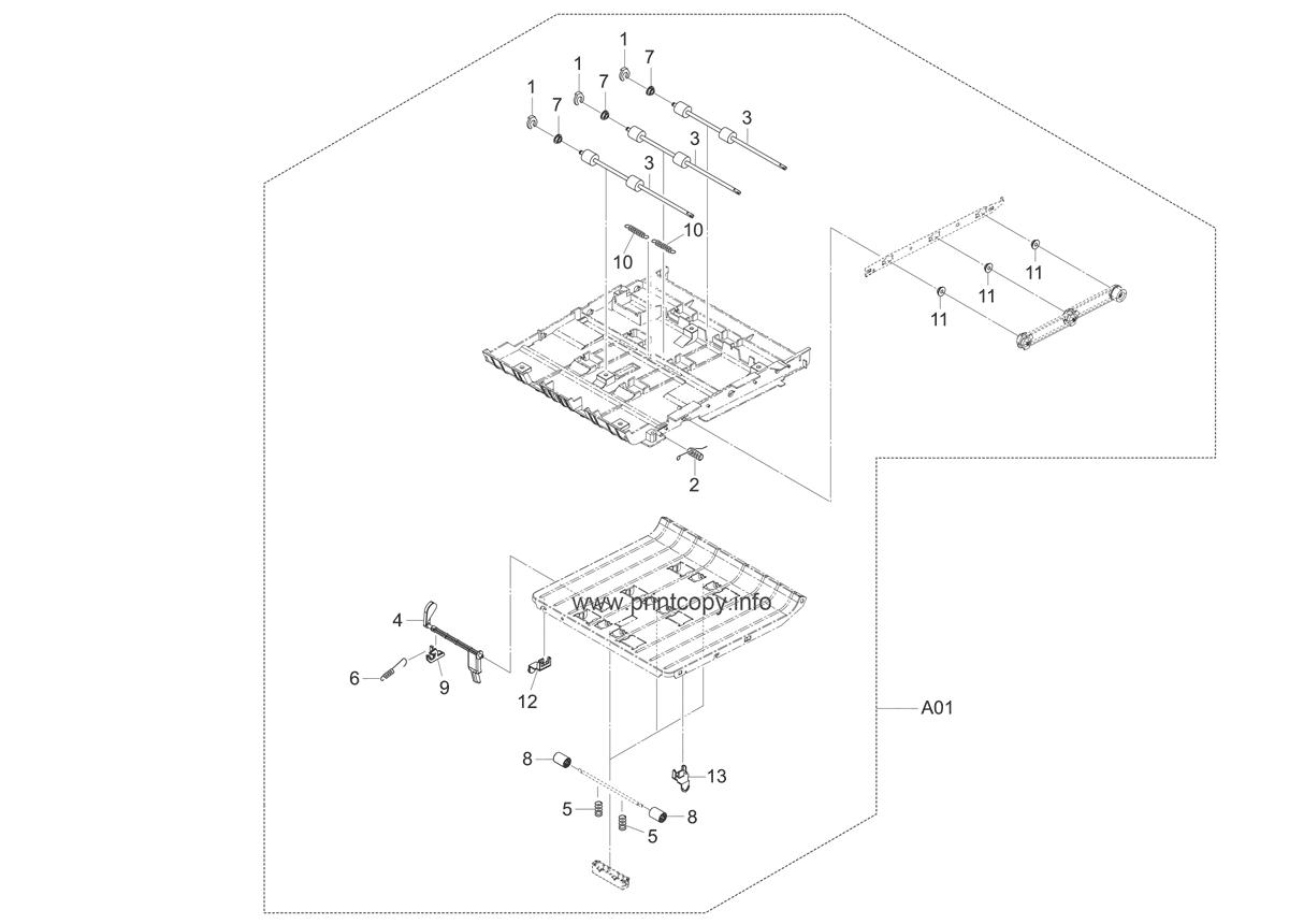 Parts Catalog > Kyocera > FS3640MFP > page 8