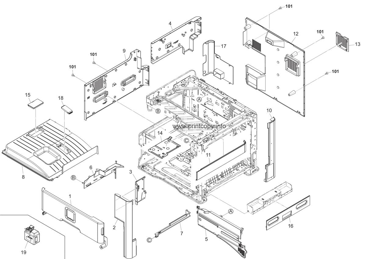 Parts Catalog > Kyocera > FS6525MFP > page 1