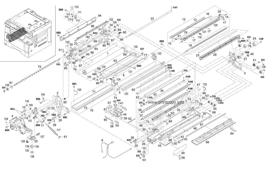 Parts Catalog > Kyocera > KM1525 > page 10