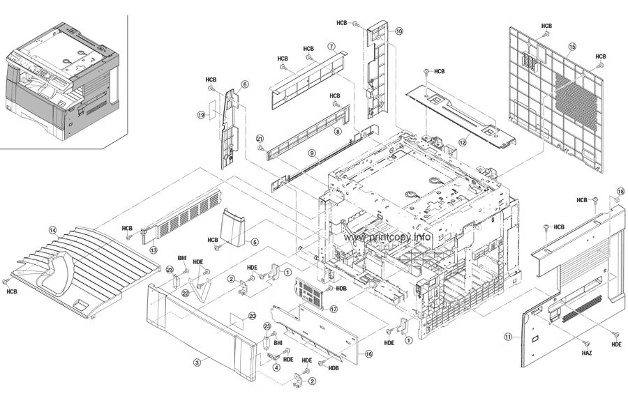 Parts Catalog > Kyocera > KM2030 > page 1