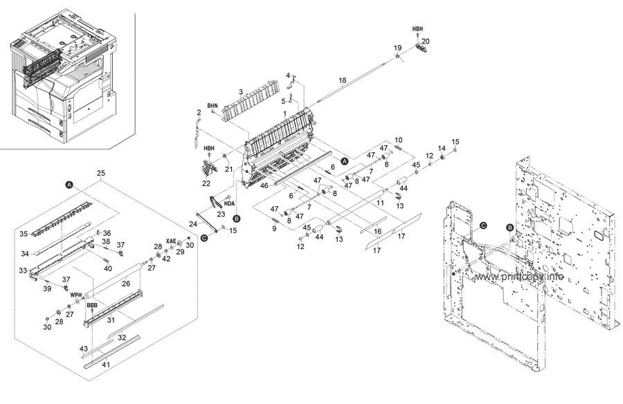 Parts Catalog > Kyocera > KM3530 > page 7
