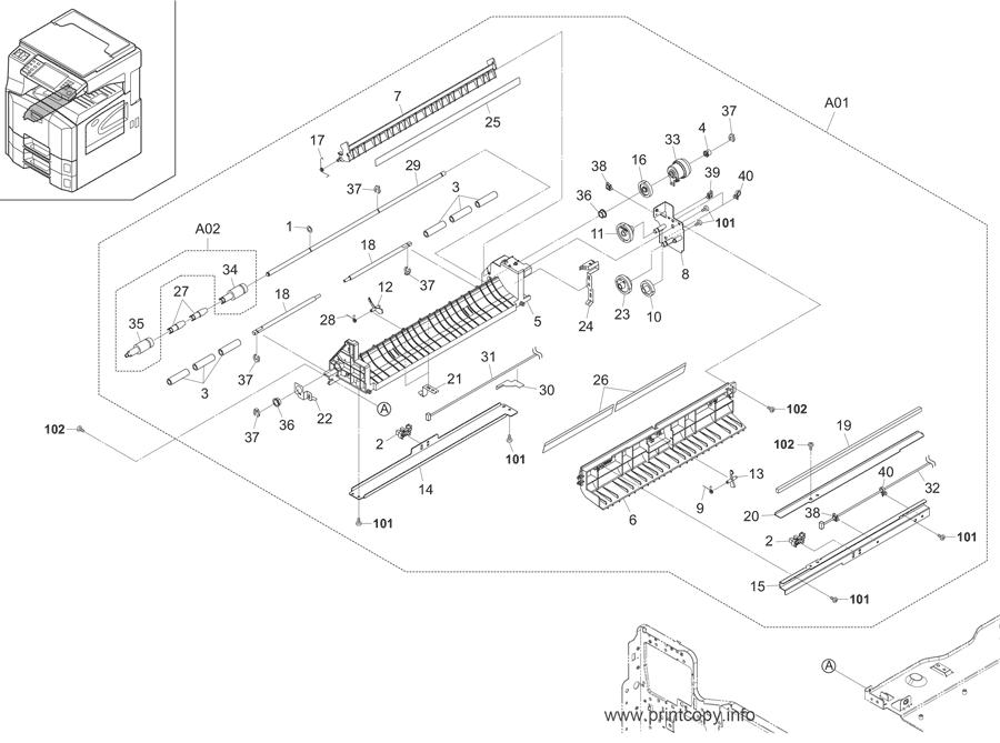 Parts Catalog > Kyocera > KM2560 > page 8