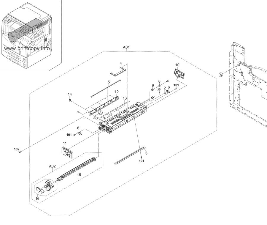 Parts Catalog > Kyocera > KM3050 > page 17