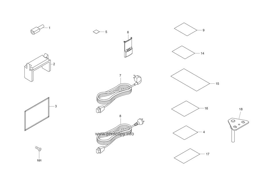 Parts Catalog > Kyocera > KM6030 > page 42