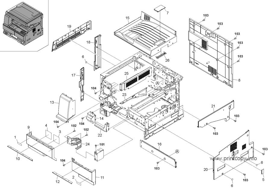 Parts Catalog > Kyocera > TASKalfa 220 > page 1