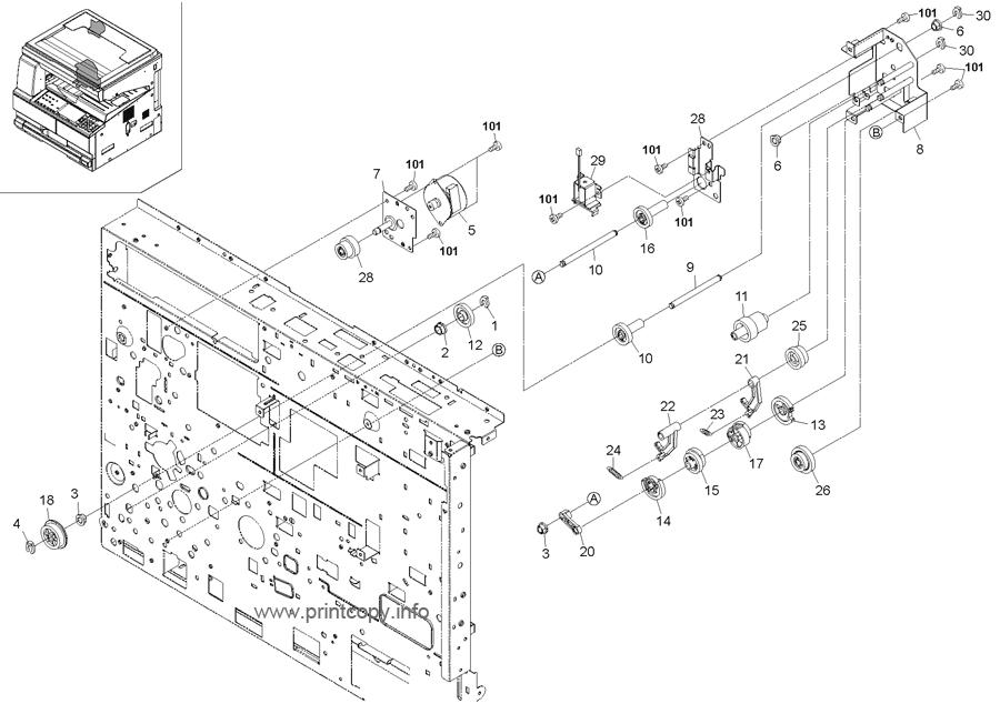 Parts Catalog > Kyocera > TASKalfa 180 > page 13