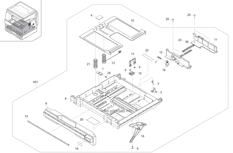 Parts Catalog > Kyocera > TASKalfa 221 > page 6