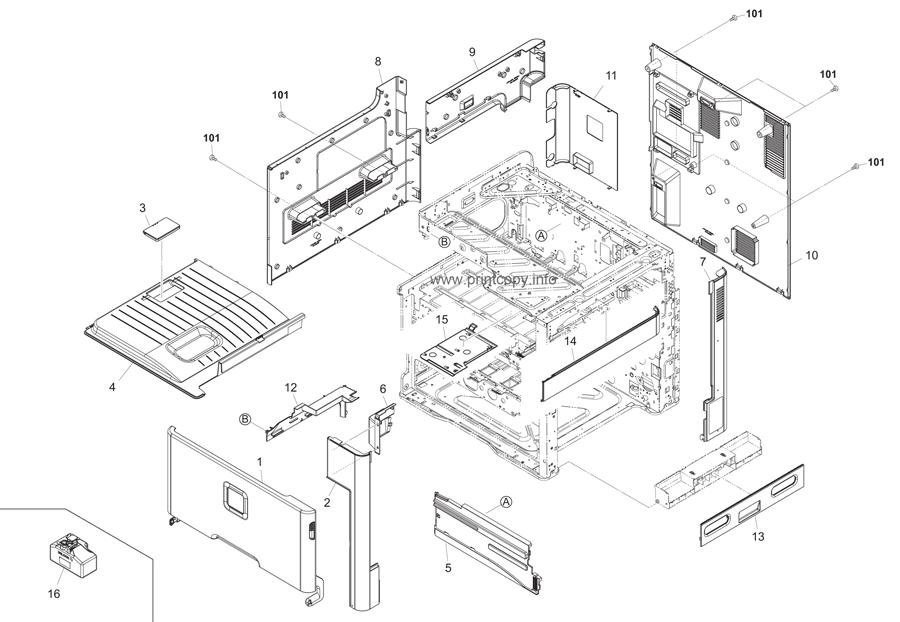 Parts Catalog > Kyocera > FSC8025MFP > page 1