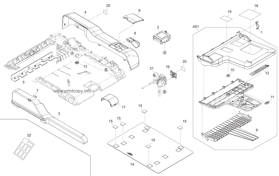 Parts Catalog > Kyocera > TASKalfa 255c > page 17