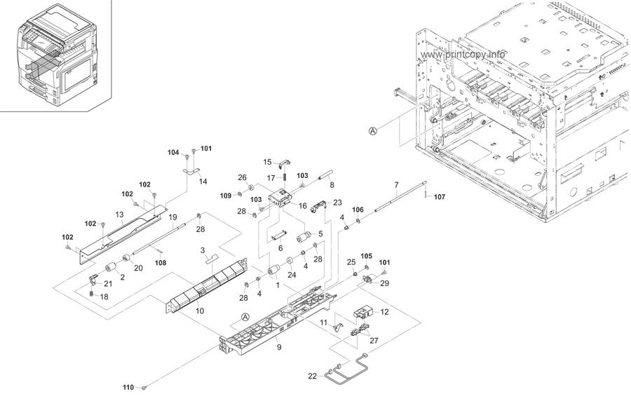 Parts Catalog > Kyocera > TASKalfa 250ci > page 7