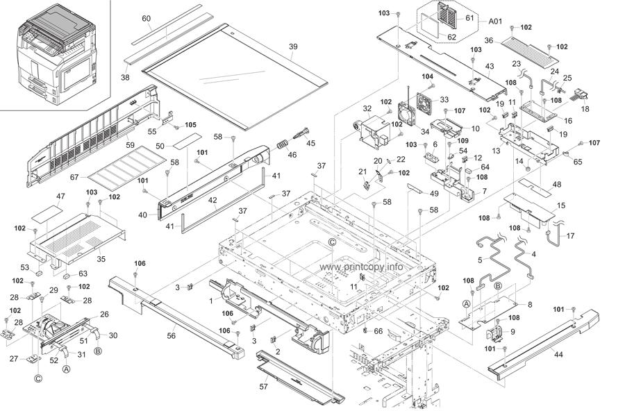 Parts Catalog > Kyocera > TASKalfa 250ci > page 21