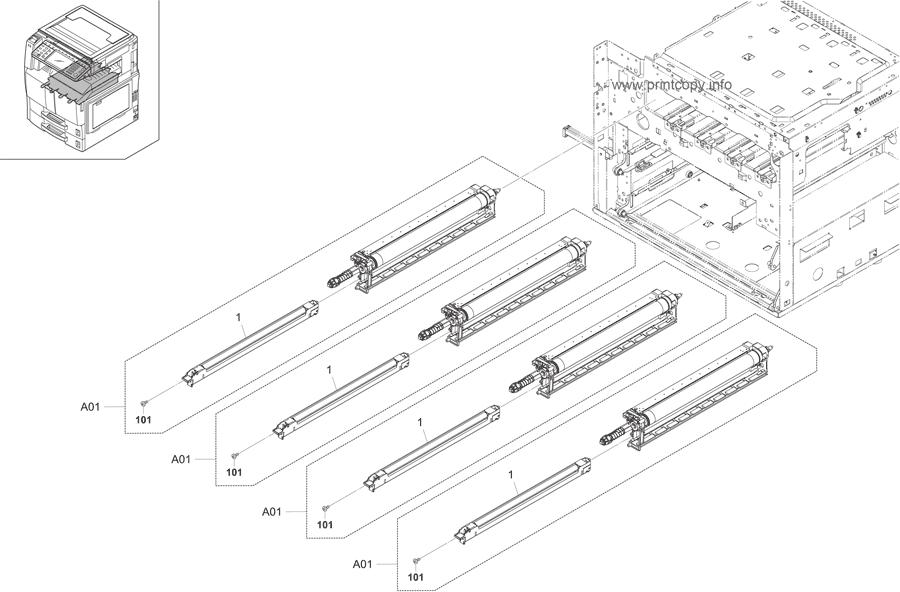 Parts Catalog > Kyocera > TASKalfa 300ci > page 23