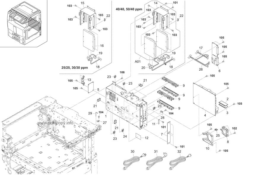 Parts Catalog > Kyocera > TASKalfa 250ci > page 39