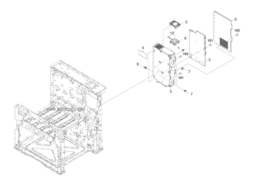 Parts Catalog > Kyocera > TASKalfa 2550ci > page 35