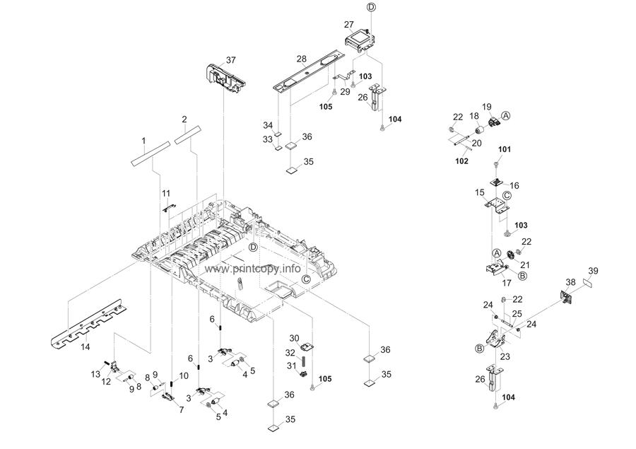 Parts Catalog > Kyocera > TASKalfa 2550ci > page 39