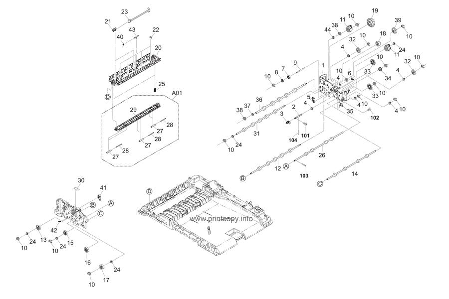 Parts Catalog > Kyocera > TASKalfa 2550ci > page 41