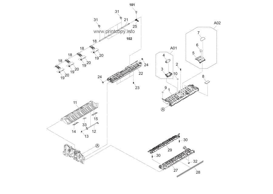Parts Catalog > Kyocera > TASKalfa 2550ci > page 43