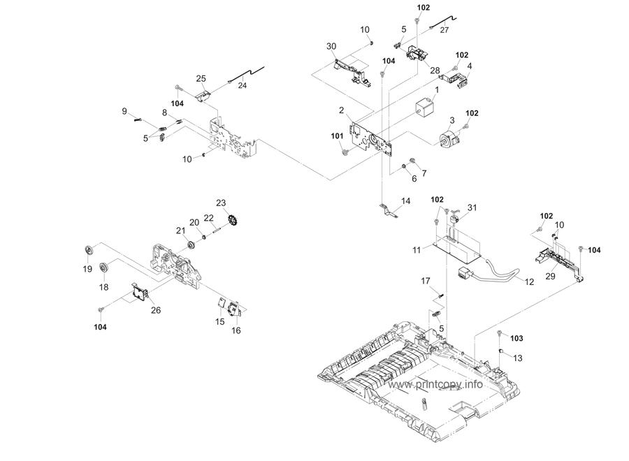 Parts Catalog > Kyocera > TASKalfa 2550ci > page 44
